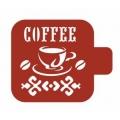 """Трафарет пластиковый Модуль Кухня М9Кх-11 """"Чашка кофе"""" 9х9 см, Event Design"""