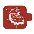 "Трафарет пластиковый Модуль Люди М9Лд-14 ""Танцовщица"" 9х9 см, Event Design"
