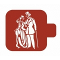 "Трафарет пластиковый Модуль Люди М9Лд-16 ""Пара на прогулке"" 9х9 см, Event Design"