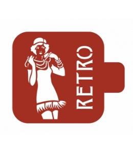 "Трафарет пластиковый Модуль Люди М9Лд-25 ""Ретро"" 9х9 см, Event Design"
