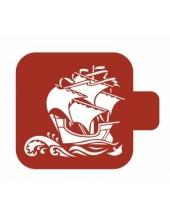 "Трафарет пластиковый Модуль Море М9Мр-03 ""Каравелла"" 9х9 см, Event Design"