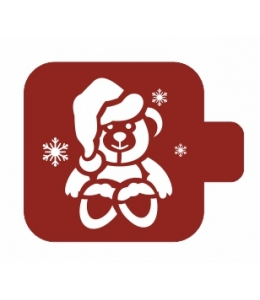"""Трафарет пластиковый Модуль Новый год М9Нг-05 """"Медвежонок"""" 9х9 см, Event Design"""