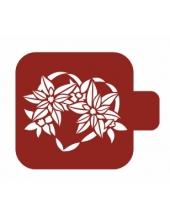 """Трафарет пластиковый Модуль Новый год М9Нг-08 """"Зимние цветы"""" 9х9 см, Event Design"""