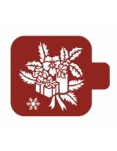 """Трафарет пластиковый Модуль Новый год М9Нг-102 """"Рождественские подарки"""" 9х9 см, Event Design"""