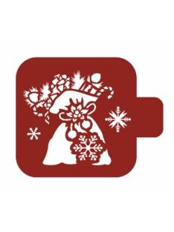 """Трафарет для росписи Модуль Новый год """"Мешок с подарками"""", 9х9 см, Event Design"""