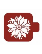 """Трафарет пластиковый Модуль Новый год М9Нг-26 """"Пуансеттия"""" 9х9 см, Event Design"""