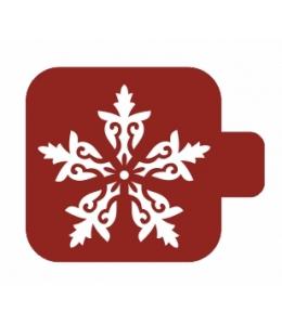 """Трафарет пластиковый Модуль Новый год М9Нг-37 """"Снежинка 2"""" 9х9 см, Event Design"""