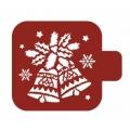 """Трафарет пластиковый Модуль Новый год М9Нг-40 """"Рождественские колокольчики"""" 9х9 см, Event Design"""