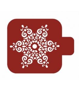 """Трафарет пластиковый Модуль Новый год М9Нг-41 """"Ажурная снежинка"""" 9х9 см, Event Design"""