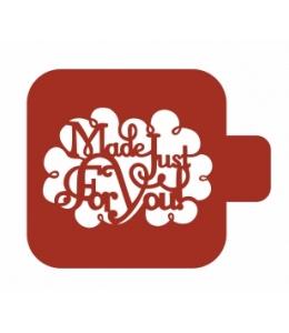 "Трафарет пластиковый Модуль Надпись М9Нп-11 ""Made just for you"" 9х9 см, Event Design"