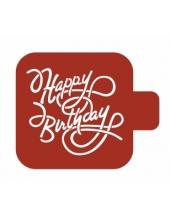 "Трафарет пластиковый Модуль Надпись М9Нп-20 ""Happy Birthay"" 9х9 см, Event Design"