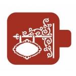 """Трафарет пластиковый Модуль Орнамент М9О-57 """"Вывеска"""" 9х9 см, Event Design"""