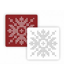 """Трафарет модуль Новый год """"Вышитая снежинка"""", 15х15 см, Event Design"""