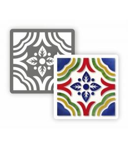 """Трафарет """"Плитка азулежу ПА1-03"""" 15х15 см, Event Design"""