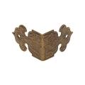 Декоративый уголок для шкатулок 17х25 мм, цвет античная бронза, 4 штуки