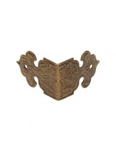 Декоративый уголок для шкатулок 17х25 мм, цвет античная бронза, 1 штука