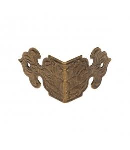 Декоративный  уголок для шкатулок 17х25 мм, цвет античная бронза, 1 штука