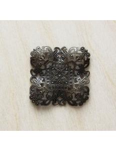 """Декоративный элемент """"Вензель"""" 40х40 мм, цвет античная бронза"""
