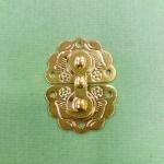 Замок для шкатулок 3х4 см, цвет золото