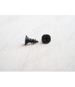 Мини шурупы для фурнитуры 6х4 мм, 2 штуки, бронза