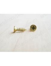Мини шурупы для фурнитуры 8х4 мм, 2 штуки, цвет золото