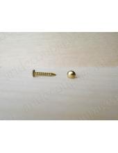 Мини-гвоздь для фурнитуры 8 мм, золото, 2 шт