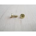 Мини шурупы для фурнитуры 6х4 мм, 2 штуки, цвет золото