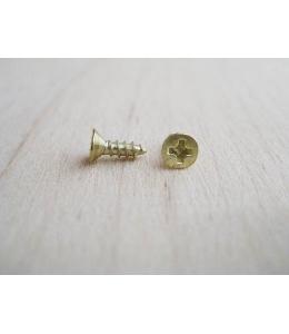 Мини шурупы для фурнитуры 8х2 мм, 2 штуки, цвет золото
