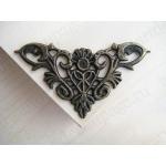 Декоративый уголок для шкатулок 35х35 мм, цвет античная бронза, 4 штуки