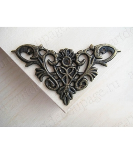 Декоративный  уголок для шкатулок 35х35 мм, цвет античная бронза, 4 штуки