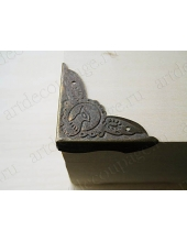 Декоративный  уголок для шкатулок 40х40х10 мм, цвет античная бронза, 4 штуки
