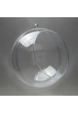 Заготовка ёлочный Шар с окошком , прозрачный пластик, 12 см, Германия