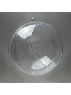 Заготовка ёлочный Шар с окошком , прозрачный пластик, 12 см