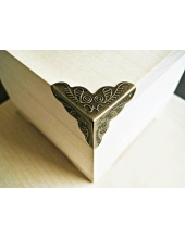 Декоративный  уголок для шкатулок 24х24х24 мм, цвет античная бронза, 4 штуки