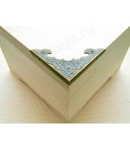 Декоративный  уголок для шкатулок 40х40х4 мм, цвет античная бронза, 4 шт.
