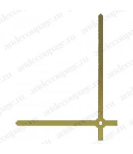 Стрелки для часов золотистые прямые, металл, 103/80 мм, Hermle (Германия)