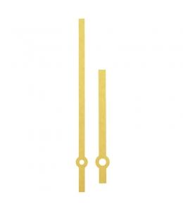 Стрелки для часов золотистые прямые, металл, 145/113 мм, Hermle (Германия)