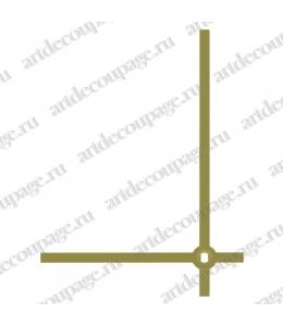 Стрелки для часов золотистые прямые, классика, металл, 80/60мм, Hermle (Германия)