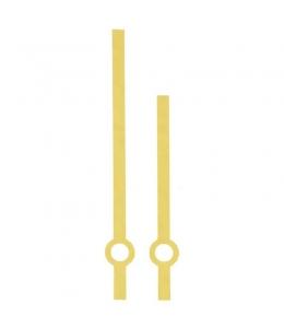 Стрелки для часов золотистые прямые, классика, металл, 90/65мм, Hermle (Германия)