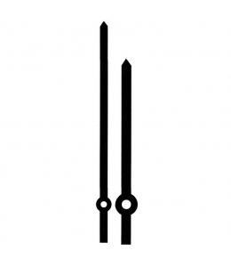 Стрелки для часов черные прямые, металл, 130/95 мм, Hermle (Германия)