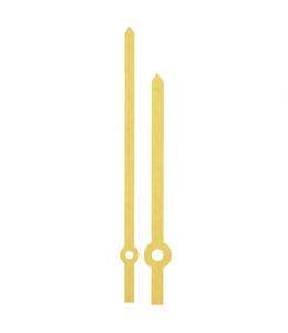 Стрелки для часов золотистые прямые, металл, 131/94 мм, Hermle (Германия)