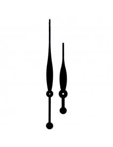Стрелки для часов черные большие, металл, 237/162 мм, Young Town (Гонконг)