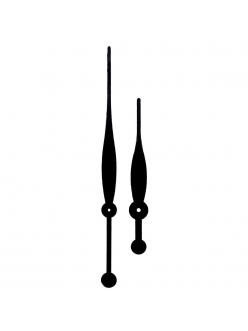 Стрелки для часов черные большие, металл, 237/162 мм, Young Town Гонконг