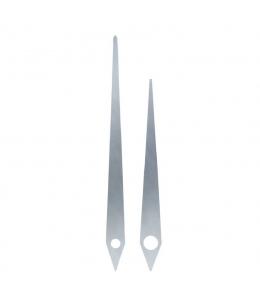 Стрелки для часов серебристые металлические, 112/80 мм, Hermle (Германия)