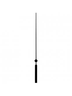 Стрелка секундная для часового механизма 83 мм, черный металл, Hermle Германия