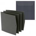 Заготовка для открытки лепорелло с конвертом, цвет черный, 15,5х15,5 см, Heyda (Германия)