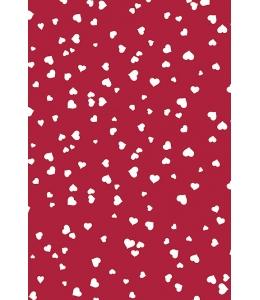 """Бумага для скрапбукинга двусторонняя """"Сердечки белые на красном фоне"""", формат А4, Heyda (Германия)"""