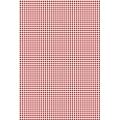 """Бумага для скрапбукинга двусторонняя """"Клетка красная"""", формат А4, Heyda (Германия)"""