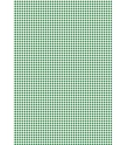 "Бумага для скрапбукинга двусторонняя ""Клетка зеленая"", формат А4, Heyda (Германия)"