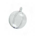Заготовка шар разъемный, прозрачный пластик, 8 см, HEMLINE (Австралия)